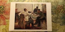 "ADAMOVA ""HAVING REST"" 1955  - OLD SOVIET POSTCARD (USSR) - Chess - Échecs - - Echecs"