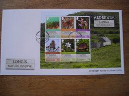 2016 FDC Alderney Longis Nature Reserve Réserve Naturelle - Alderney