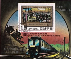 DPR KOREA 1980 Sc. 2006 Locomotiva Elettrica Littorina Sheets Perf. CTO Corea Berlin - Treni