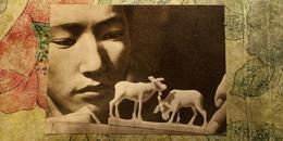 RUSSIA. Far East. YAKUTIA. Bone Carving  - Rare Postcard 1963 - Personnages