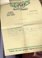 TABAC  Entête Tabac Semois   Alle/semois  1940 - Documents