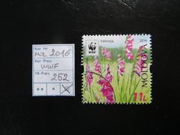 "2016  "" WWF "" Blumen Gestempelt,  LOT 252 - Moldawien (Moldau)"