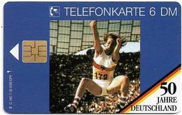 Germany - 50 Jahre Deutschland - Heide Rosendahl  Olympic Flame - O 0340 - 11.92, 6DM, 6.500ex, Used - O-Serie : Serie Clienti Esclusi Dal Servizio Delle Collezioni