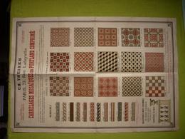Affiche Pub Litho Carreaux Ciment De Portland Ch. Theisen à Paris - Publicités