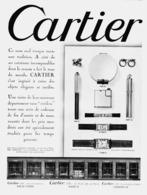 """PUB  """" BIJOUX -MONTRES - STYLOS -BRIQUETS """"    """" CARTIER """"   1931  ( 1 ) - Bijoux & Horlogerie"""