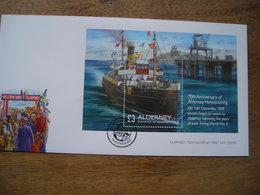 2015 FDC Alderney 70e Anniversaire De Homecoming Retour 15e Dec 1945 Après La Guerre - Alderney