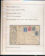 BELGIUM BELGIQUE HOUYOUX CARTE PETROLE HAHN  EXPRES DE BRUXELLES EN 1930 VERS BRUXELLES VUE DE GRENOBLE L'ISERE - 1922-1927 Houyoux