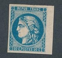 CM-113: FRANCE: Lot Avec N° 46B* (clair, Bord De Feuille TB D'aspect) - 1870 Bordeaux Printing