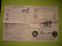 Belle Pub Illustrée 19 ème Machines Agricoles TH. Christmann à Metz - Publicités