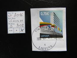 "2016  "" Vilnius 21 ""  Auf Ausschnitt, Guter Stempel   LOT 302 - Litauen"