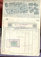 TABAC  Facture Tirou  Charleroi  -  Gembloux  1923 - Documents