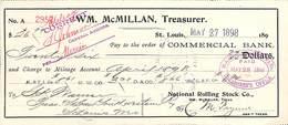 Receipt St Louis Southwestern Railway Company 1898 - Etats-Unis