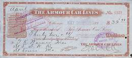 Receipt St Louis Southwestern Railway Company 1898 The Armour Car Lines - Estados Unidos