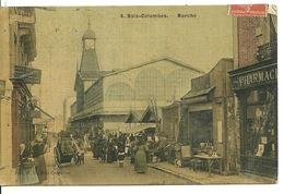 92 - BOIS COLOMBES / MARCHE (carte Toilée) - Colombes