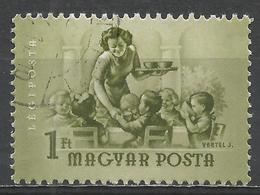 Hungary 1954. Scott #C146 (U) Lunchtime At The Nursery * - Poste Aérienne