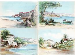 Lot 13 Cartes - Illustrateur P. CHARLEMAGNE - Paysages - Ed. M. Barré & J. Dayez - Cartes Postales