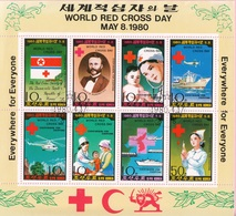DPR KOREA 1980 Sc. 1931a Croce Rossa World Red Cross Day Sheets Perf. CTO Corea - Croce Rossa