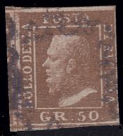 A.S.I. - Sicilia: Effige Di Ferdinando II - 50 Gr. Lacca Bruno - 1859 - Sizilien