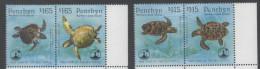 PENRHYN, 1995, MNH, YEAR OF THE TURTLE, SEA TURTLES, 4v - Turtles