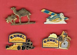CIGARETTES CAMEL LOT DE 4 PINS TABAC - Objets Publicitaires