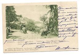 OLD POSTCARD - POSTAL STATIONERY OF KEPKIPA - CORFOU - VILLAGE DE PELEKOS , 1903 . - Griekenland