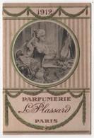 CARTE PARFUMEE Ancienne Calendrier 1912 Parfumerie L. Plassard - Vintage (until 1960)