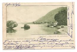 OLD POSTCARD - POSTAL STATIONERY OF KEPKIPA - CORFOU - VILLAGE DE BENITZES  , 1903 . - Grecia