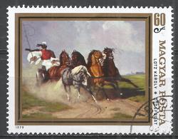 Hungary 1979. Scott #2593 (U) Painting Of Horses: Coach And Five, By Karoly Lotz * - Hungary