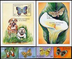 St. Vincent & The Grenadines - 2001 - Beautiful Butterflies - Mint Stamp Set + 2 Souvenir Sheets - St.Vincent & Grenadines