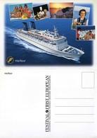 "Ship Postcards - Passenger   Ship : ""The Azur      ""   Read Description - Ships"