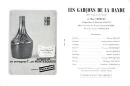 "Octobre 1969 - Programme Théâtre Edouard VII - ""Les Garçons De La Bande"" - Représentation Du 4 Octobre 1969 - - Programs"