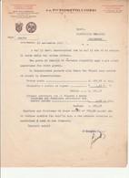 LETTERA CARTA INTESTATA MACINAZIONE F.LLI FIORETTO & COZZI Spilimbergo 1943 RSI - Italia