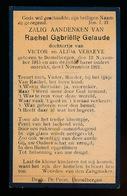 RACHEL GELAUDE  DESTELBERGEN 1915    1921 - Décès