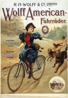 Cycle Postcard Wolff American Aue-Berleburg Hamburg 1900 - Reproduction - Pubblicitari
