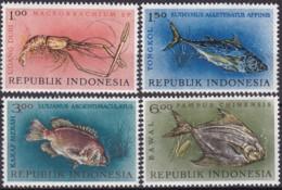 Indonesieni, 1963, 392/95, Fischereitag. MNH ** - Indonesia