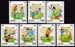 Kambodscha, 1989, 999/05, Fußball-Weltmeisterschaft 1990, Italien. MNH ** - Kambodscha
