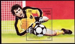 Kambodscha, 1989, 1006 Block 162, Fußball-Weltmeisterschaft 1990, Italien. MNH ** - Kambodscha