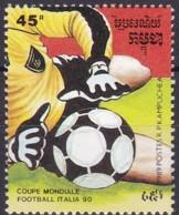 Kambodscha, 1989, 1006 Aus Block 162, Fußball-Weltmeisterschaft 1990, Italien. MNH ** - Kambodscha