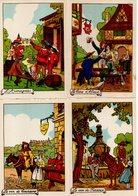 Lot 7 Cartes - Illustrateur - Thème Alcool (vin, Bière, Armagnac, Kirsch...) -  Ed. M. Barré & J. Dayez - Cartes Postales