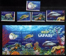 AUSTRALIA, 2018, MNH,TURTLES, SNAKES, NAUTILUS, SHARKS, SEA SNAKES,FISH, 5v+SHEETLET - Turtles