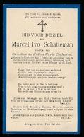 MARCEL SCHATTEMAN   EVERGEM 1920   1928 - Décès