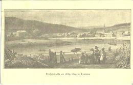 Profondeville En 1839, D' Après Lauters.   (2 Scans) - Profondeville