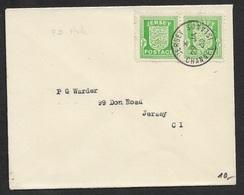 1942 CHANNEL ISLANDS - Mi.# 1 X 2 Auf Briefumschlag - FDC ERSTTAG Cds JERSEY 29 JAN 1942 - Allemagne