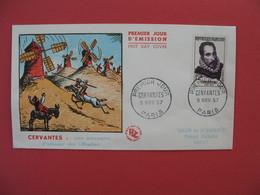 FDC 1957   Cervantes : Don Quichottte    -  Cachet  Cervantes - Paris        à Voir - FDC