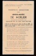 ANNA DE MERLIER  KWAREMONT 1938   1939 - Décès