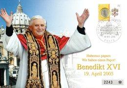 "(Bu-FDC) Vatikanstaat Schmuck-FDC ""Papst Benedikt XVI."" Mi1517 ESSt 19.4.2005 CITTA DEL VATCANO - Vatikan"