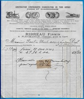 FACTURE 86 PLEUMARTIN Vienne - Firmin RIBREAU (près La Gare) Instruments D'AGRICULTURE FORGE & CHARRONNAGE - Agriculture