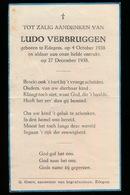 LUDO VERBRUGGEN  EDEGEM 1938    1938 - Décès