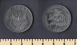 Rwanda 10 Francs 1985 - Rwanda