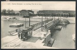 Cette - Station Balnéaire - Le Nouveau Pont De La Gare (avec Tramway) - Edit. A. N° 1 - Voir 2 Scans - Sete (Cette)